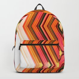 Side Line - Red Orange Futuristic Geometric Abstract Backpack
