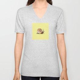 Cinnamon Bun Snail Unisex V-Neck