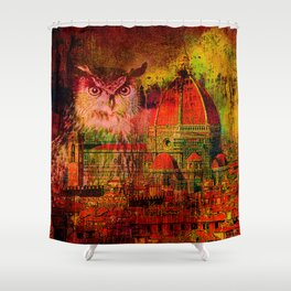 Owls Florentine Shower Curtain
