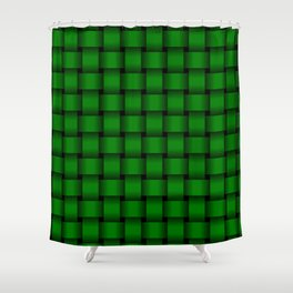 Green Weave Shower Curtain
