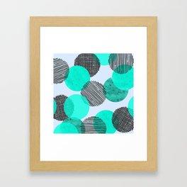 Blue Dot Pattern Framed Art Print