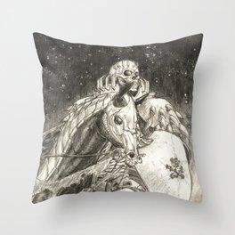 Skull Knight Throw Pillow