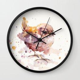 Fluffy Le Wren Wall Clock