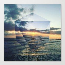 Sun Melt Canvas Print