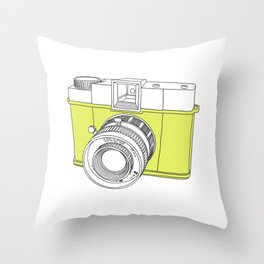 Diana F+ Glow - Plastic Analogue Camera Throw Pillow