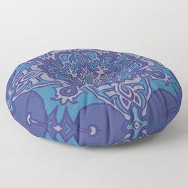Mandala Blues Floor Pillow