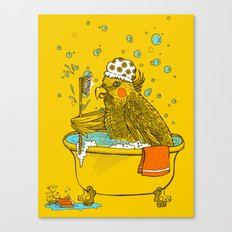 Bird Bath! Canvas Print