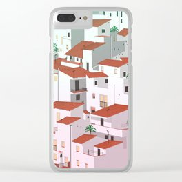 Sunset in my town Clear iPhone Case