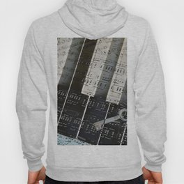 Piano Keys black and white - music notes Hoody