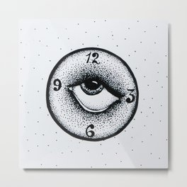 Analog Clock Metal Print