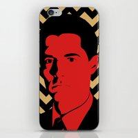 dale cooper iPhone & iPod Skins featuring Special Agent Dale Cooper by TwO Owls