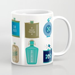 Flask Collection – Blue and Tan Palette Coffee Mug