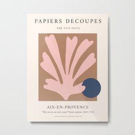 Henri Matisse Print | Papiers Decoupes Poster | Flower Market Print | Matisse inspired art | Exhibit Metal Print