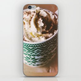 Whipped Cream Hot Chocolate iPhone Skin