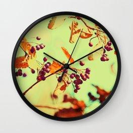 Autumn Berry Crossings @ Die Farbenfluesterin Wall Clock