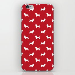 Cairn Terrier dog breed red and white dog pattern pet dog lover minimal iPhone Skin