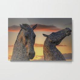 Kelpies of Scotland Metal Print