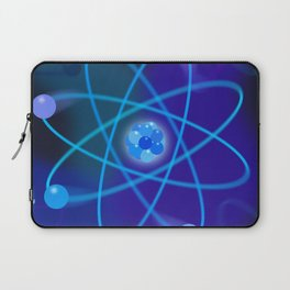 Blue Atomic Structure Laptop Sleeve