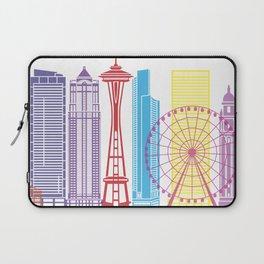 Seattle V2 skyline pop Laptop Sleeve