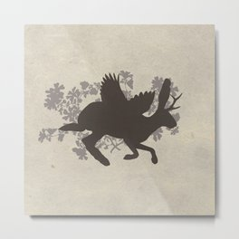 The Wolpertinger Shadow Metal Print