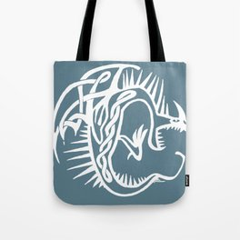 Celtic Knotwork Deadly Nadder (White) Tote Bag