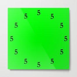 Black Five o'Clock Somewhere on Lime Green Metal Print