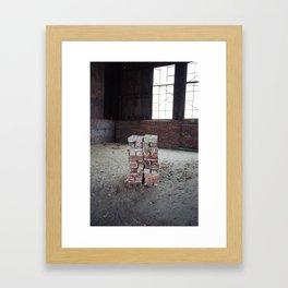 Green Brick Framed Art Print