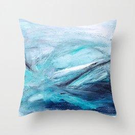 Iceland Blues Throw Pillow