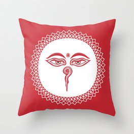 Swayambhu Eyes Throw Pillow