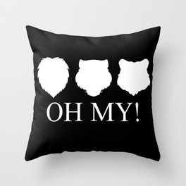 Lions, Tigers and Bears! Oh My! Throw Pillow