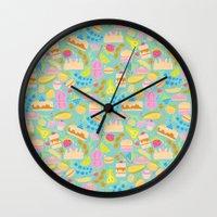baking Wall Clocks featuring Baking pattern by Calidurge