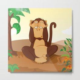 Three wise monkeys 2/3 Metal Print