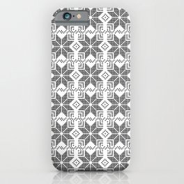 Gray and white Christmas pattern. iPhone Case