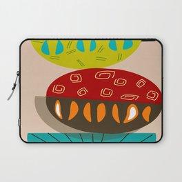Mid-Century Modern Abstract Half Moons Laptop Sleeve