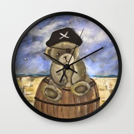 Pirate Ahoy Teddy Wall Clock