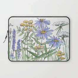 Asters and Wild Flowers Botanical Nature Floral Laptop Sleeve