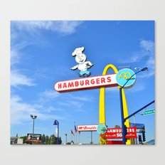Old School Fast Food Canvas Print