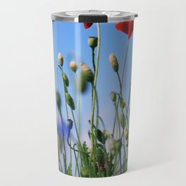 poppy flower no10 Travel Mug