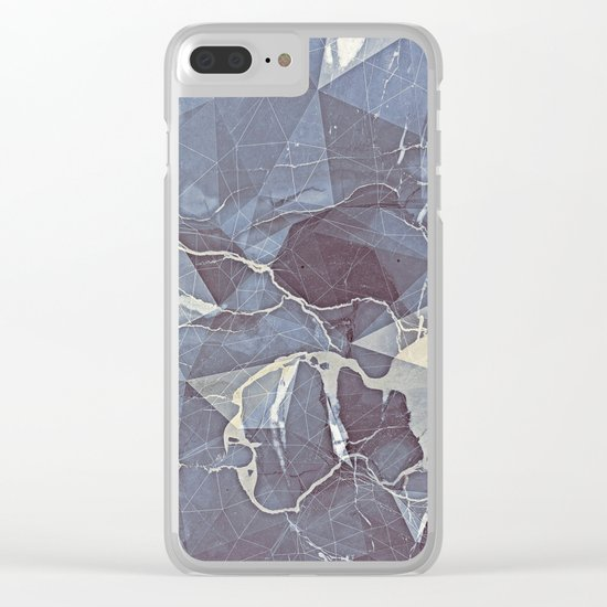Geometric Marble Clear iPhone Case