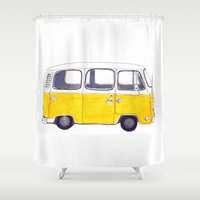 you are my sunshine Shower Curtains featuring You are my sunshine by Bridget Davidson