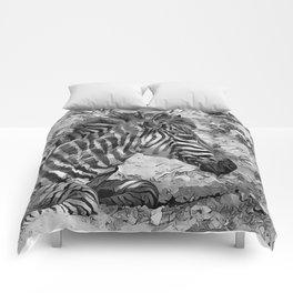 AnimalArtBW_Zebra_20170601_by_JAMColorsSpecial Comforters