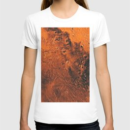 Mars Is There, Waiting To Be Reached, Galaxy Background, Universe Large Print, Space Wall Art Decor T-shirt