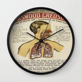 Vintage poster - Karswood Creosote Wall Clock