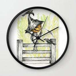 Mischievous Scarecrow Wall Clock