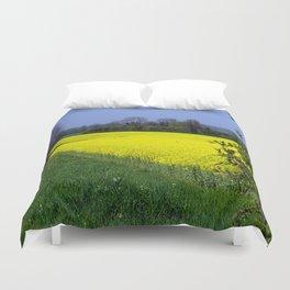 Rapeseed Field, UK  (Brassica napus Linnaeus) Duvet Cover