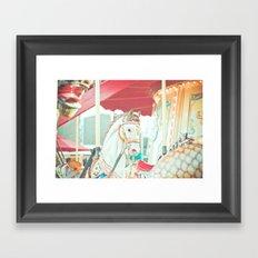 Spinning Carousel Framed Art Print