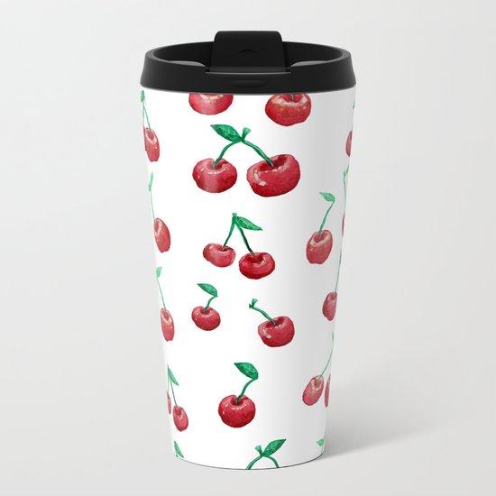 cherry pattern Metal Travel Mug