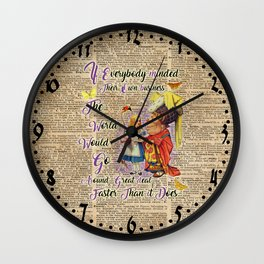 Alice with The Duchess Vintage Dictionary Art Wall Clock