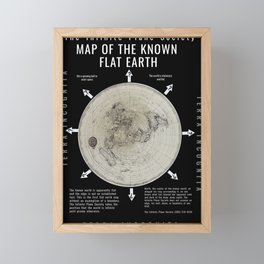 Infinite Plane Society MAP OF THE KNOWN FLAT EARTH Framed Mini Art Print