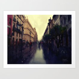 Rainy Afternoon in Seville Art Print